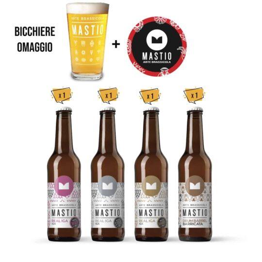 bottiglie di birra della linea cantina del mastio