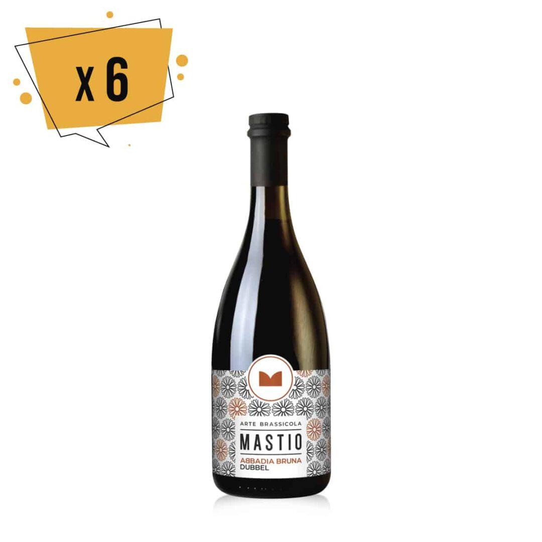 bottiglia di birra abbadia bruna da 75cl
