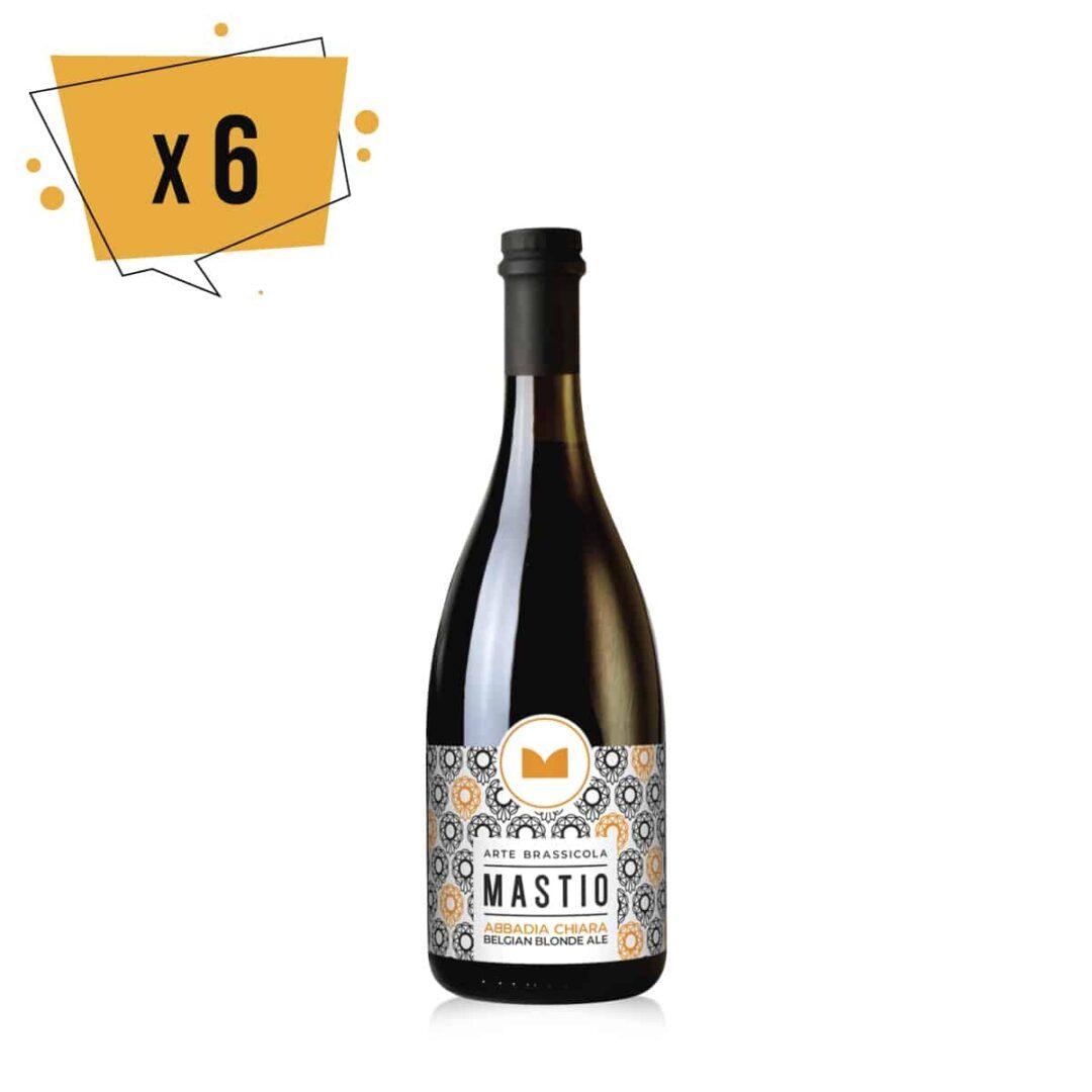 bottiglia di birra abbadia chiara da 75cl