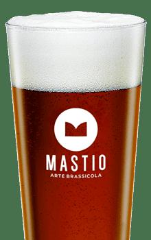 bicchiere di birra abbadia bruna