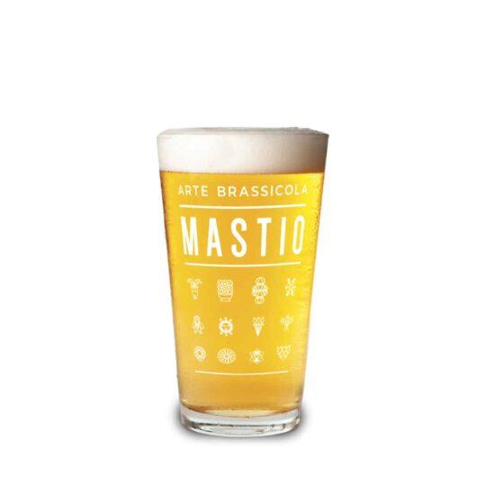 bicchiere birra serigrafato mastio arte brassicola