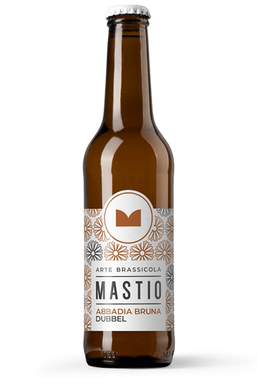bottiglia di birra abbadia bruna