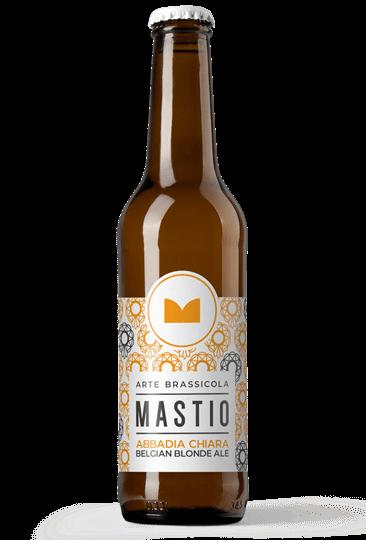 bottiglia di birra abbadia chiara