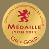 Concours International de Lyon Medaille Gold 2017